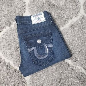 True Religion Jeans Sequin Straight Jeans 26